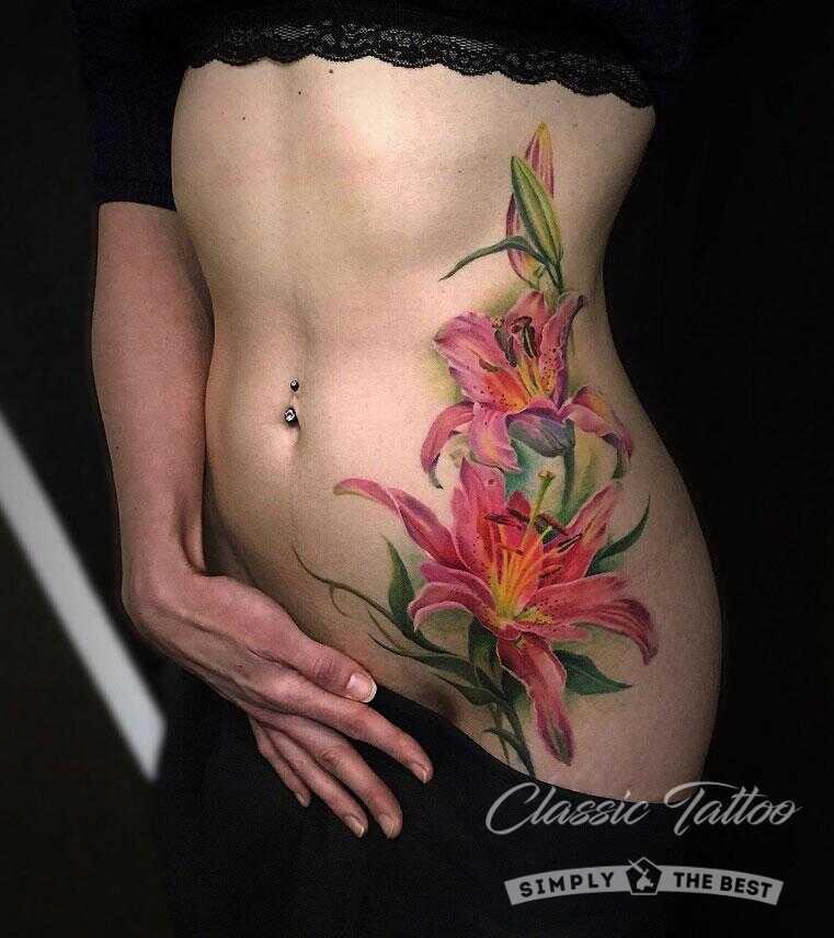Цветная татуировка - фото