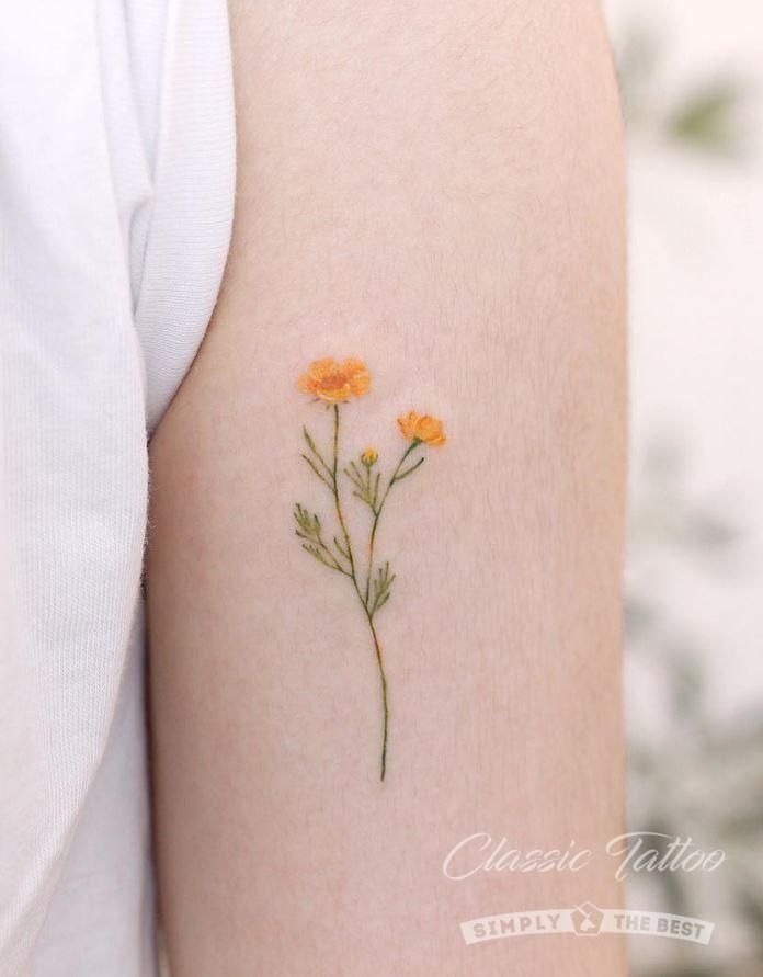 Маленькие татуировки для женщин